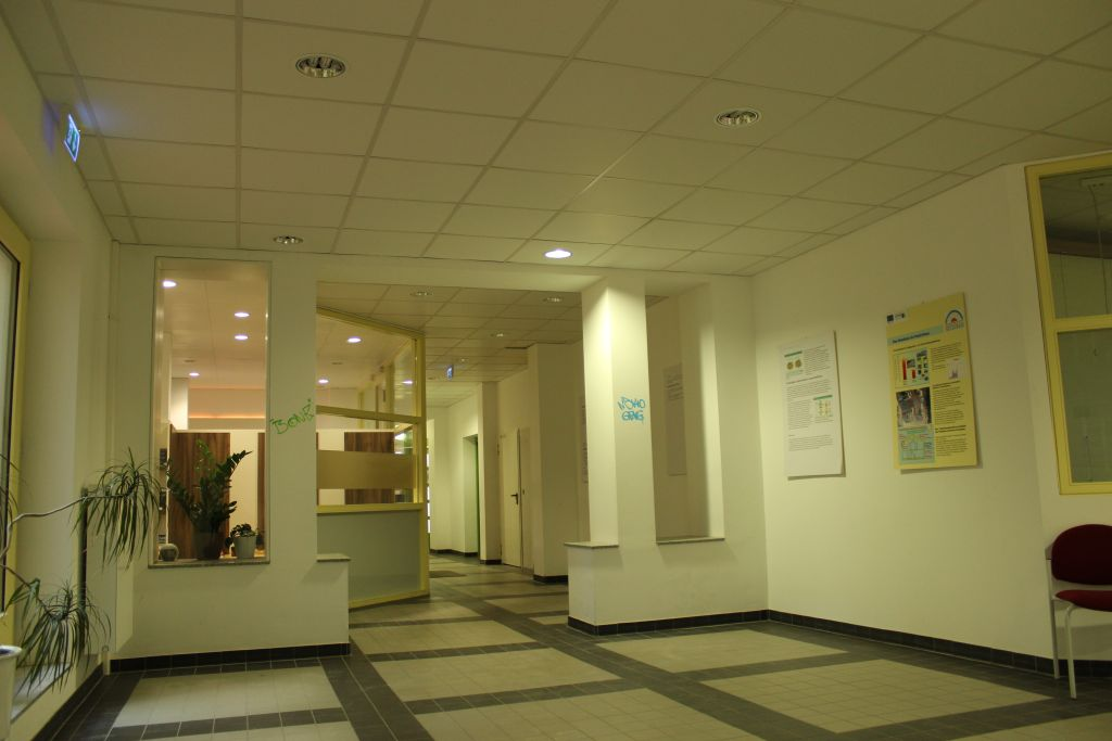 Gesundheitszentrum im Westbad Leipzig - Arztpraxis / Eingangsbereich - Trockenbau
